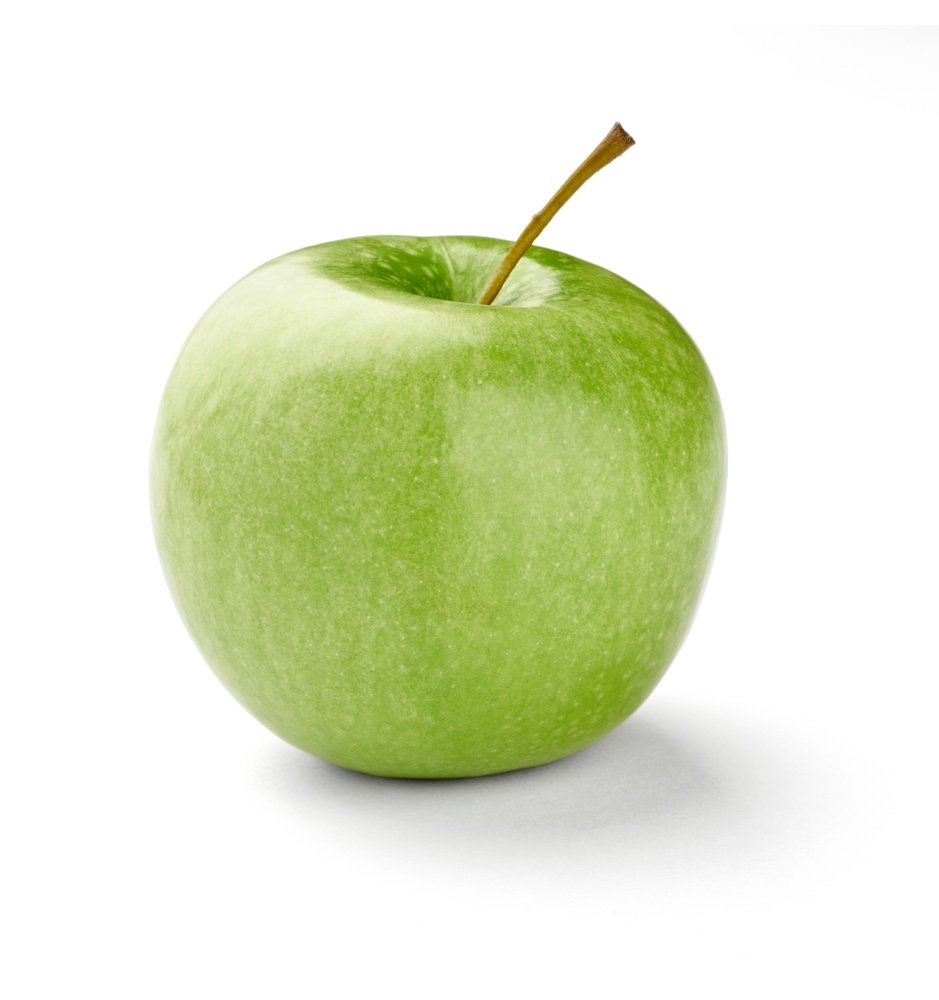 close up of  an apple on white background with clipping path.jpeg